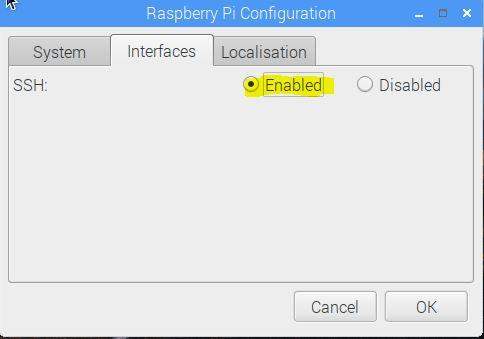 Raspberry Pi Configuration Locale Tab