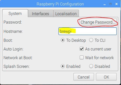 Raspberry Pi Configuration Interfaces Tab